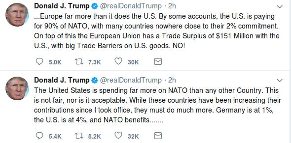 Trump NATO Tweets