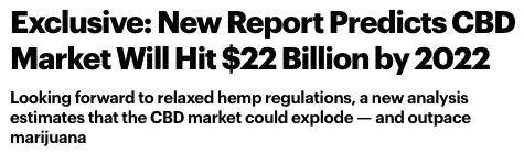 CBD Market Forecast $22 Billion