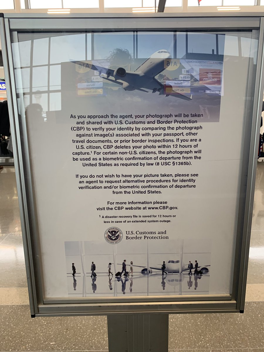 CBP Airport Sign