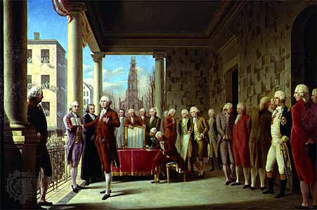 gw inauguration painting