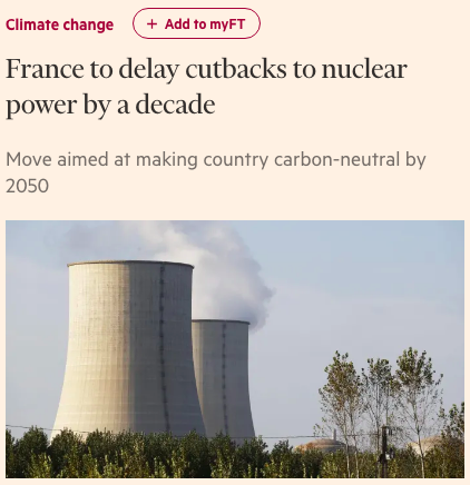 France Can't Quit Nuclear Energy