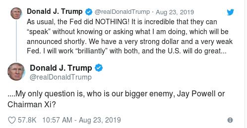 Trump Fed Xi Tweet