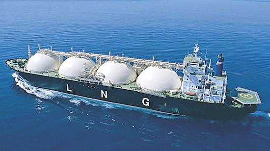 Tanker shipping LNG fuel