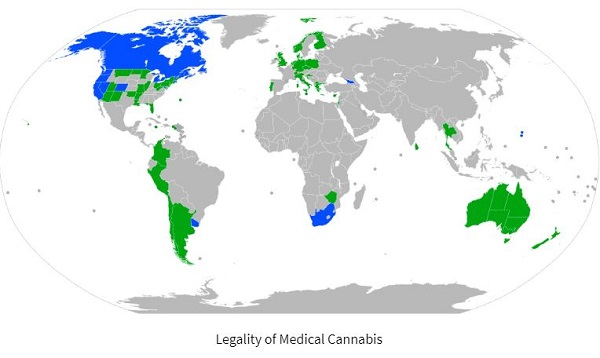 global cannabis map 2019