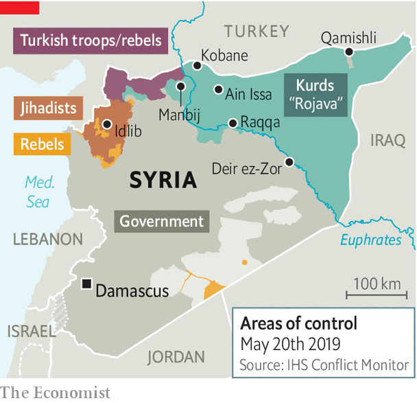 turkish invasion of syria, emerging market stocks, map