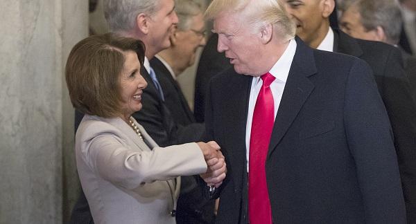 trump pelosi handshake