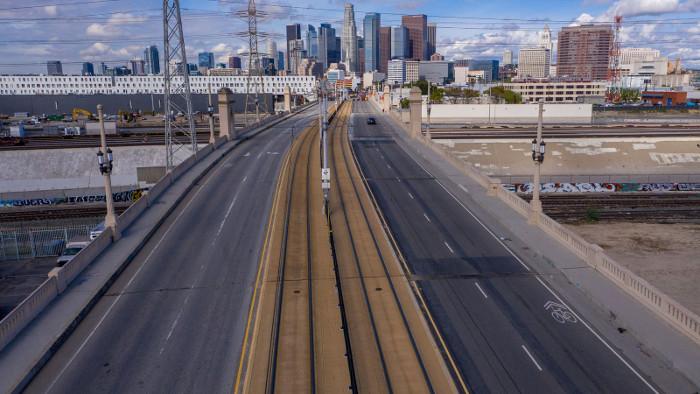 LA highway empty