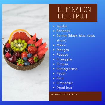 Elimination Diet Fruit