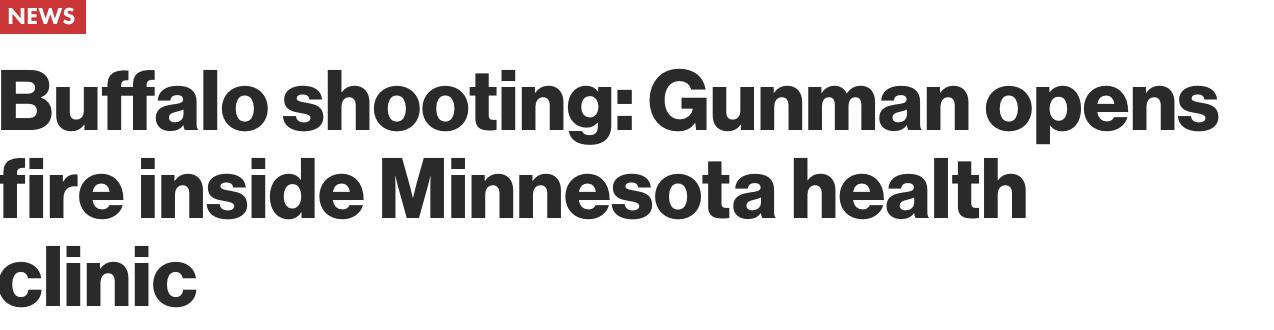 Buffalo Shooting Headline