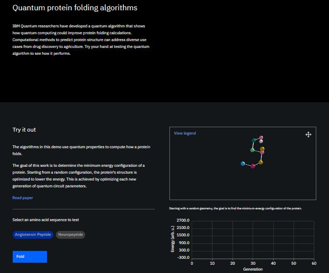 Quantum Protein folding algorithms
