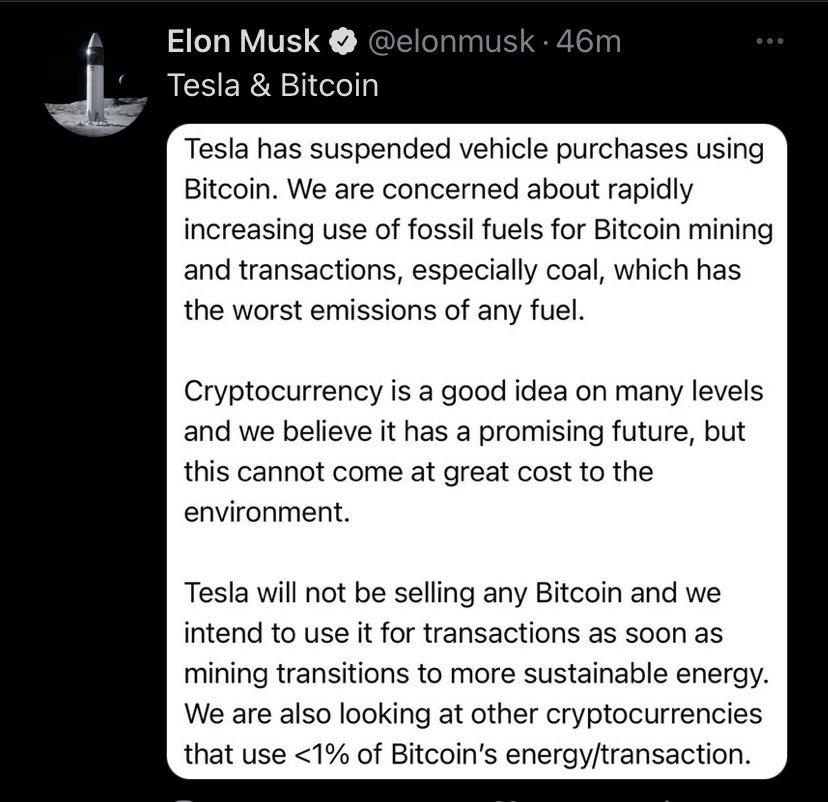 tesla bitcoin tweet